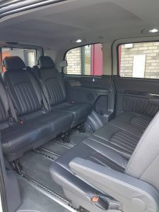 a picture of our mercedes viano leather interior