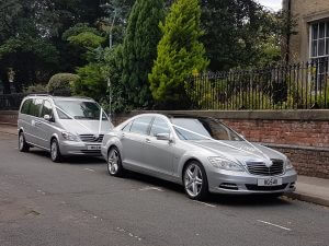 Two beautiful Mercedes wedding cars in York