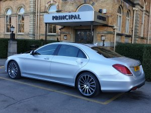 2018 Mercedes s class limousine in silver