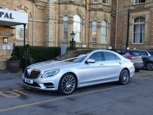 Our Mercedes s class outside the Principal hotel
