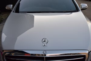 Mercedes s class limousine in silver