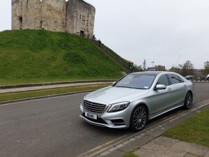 Beautiful Mercedes s class parked in York