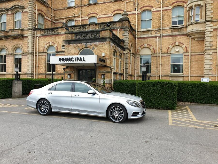 2018 Mercedes s class Sat Outside The Principal Hotel In York