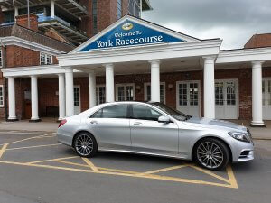 One of our Mercedes s class cars at York Races