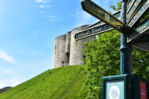A picture of clifford tower in York