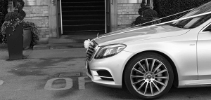 Mercedes S Class Dressed As A Wedding Car