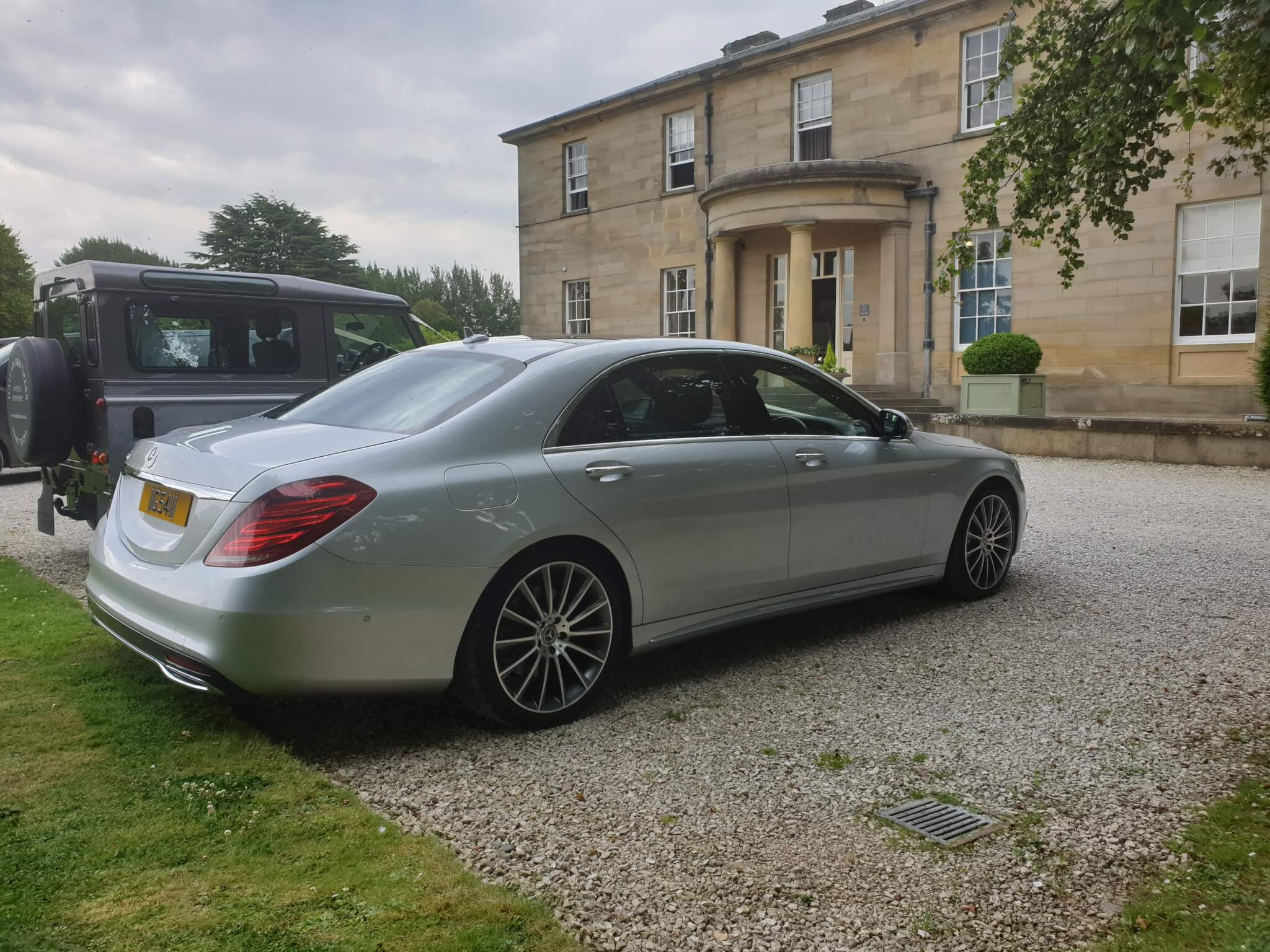 Mercedes s class Amg in silver Outside a Lovely House in The Cotswolds