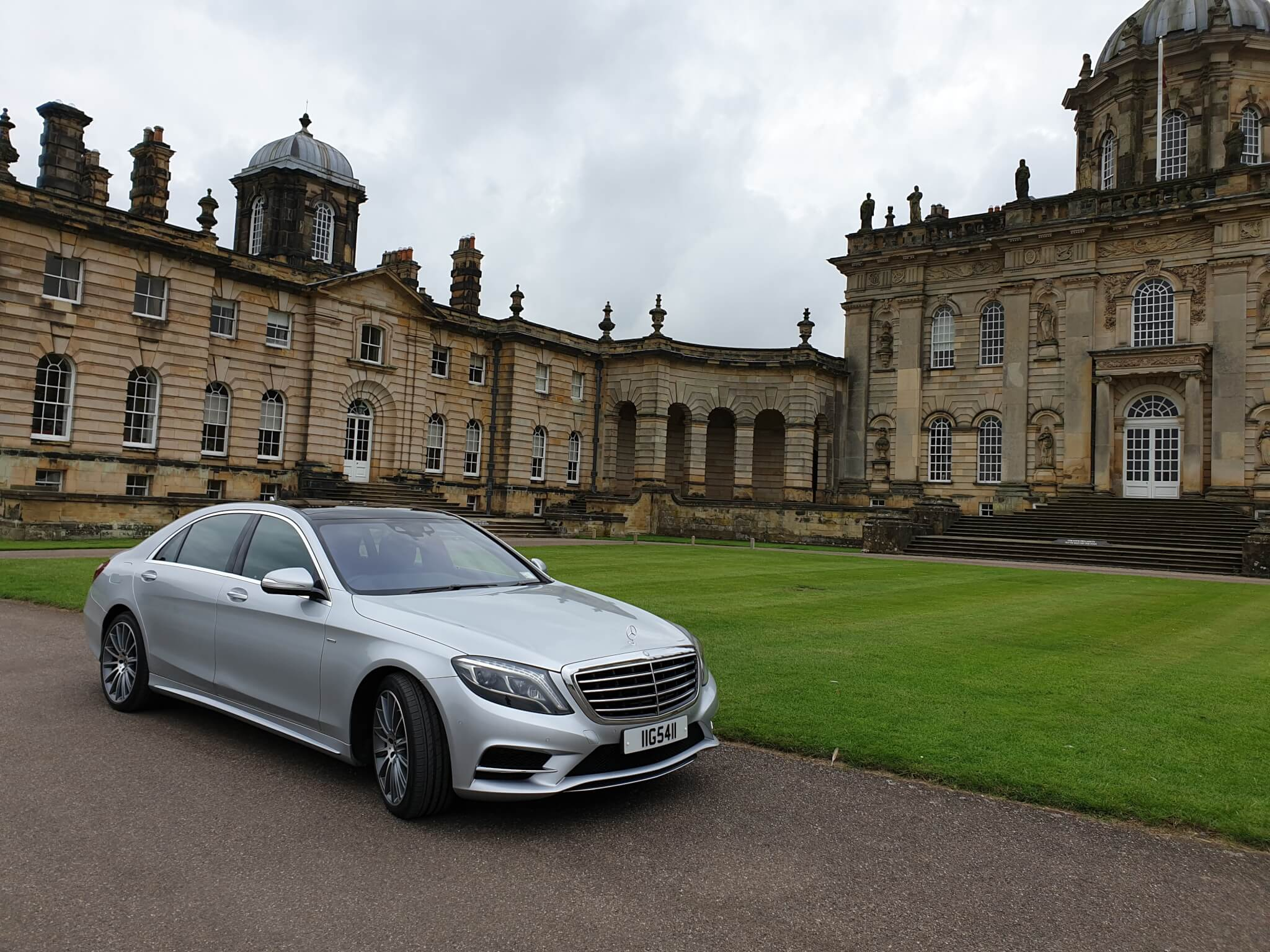 Our 2018 Mercedes s class at Castle Howard
