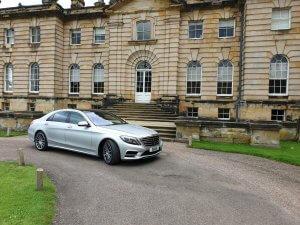 Our 2018 Mercedes s class car Sat Outside Castle Howard