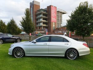 2018 Mercedes s class outside York Racecourse