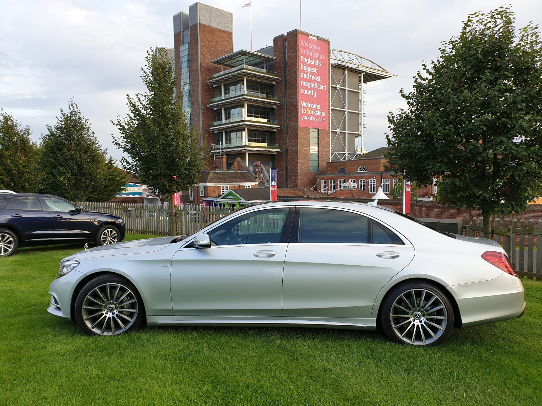 2018 Mercedes s class outside York Racecourse